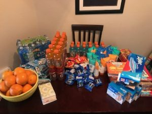 Original Set Up Of Packing 50 Kits In Zack's Apartment- April 2020